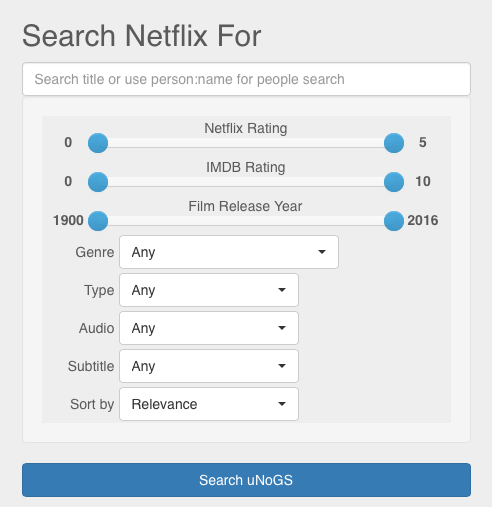 Search Netflix For...