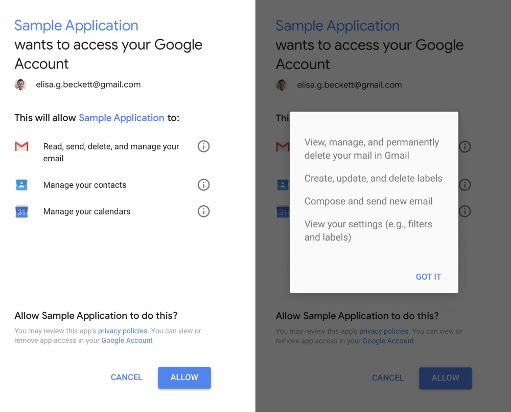 Security Checkup shows all third-party apps that have access to you data