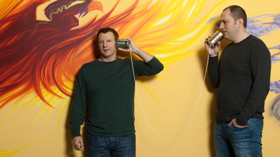 Whatsapp cofounders Brian Acton and Jan Koum.