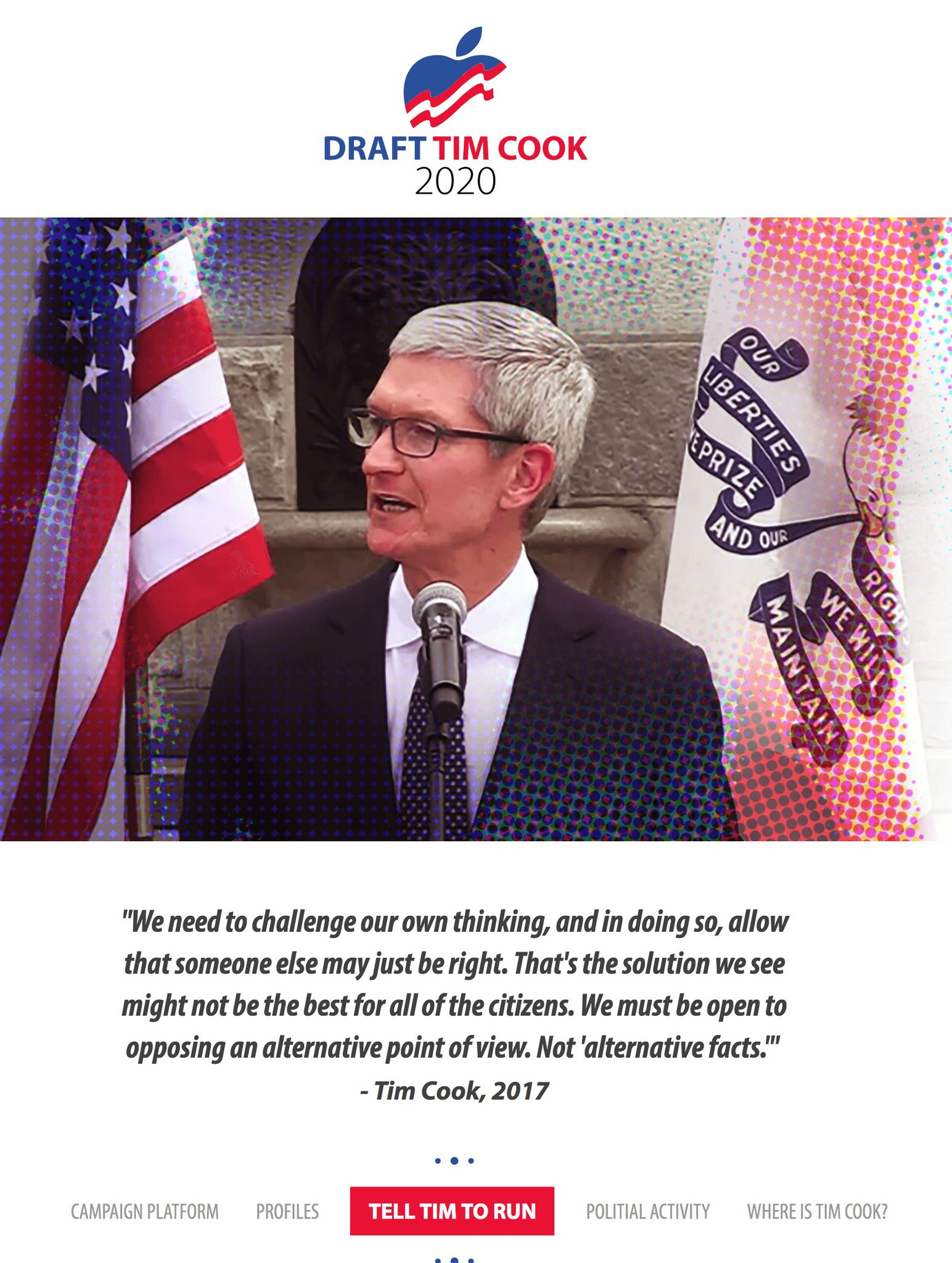 Draft Tim Cook