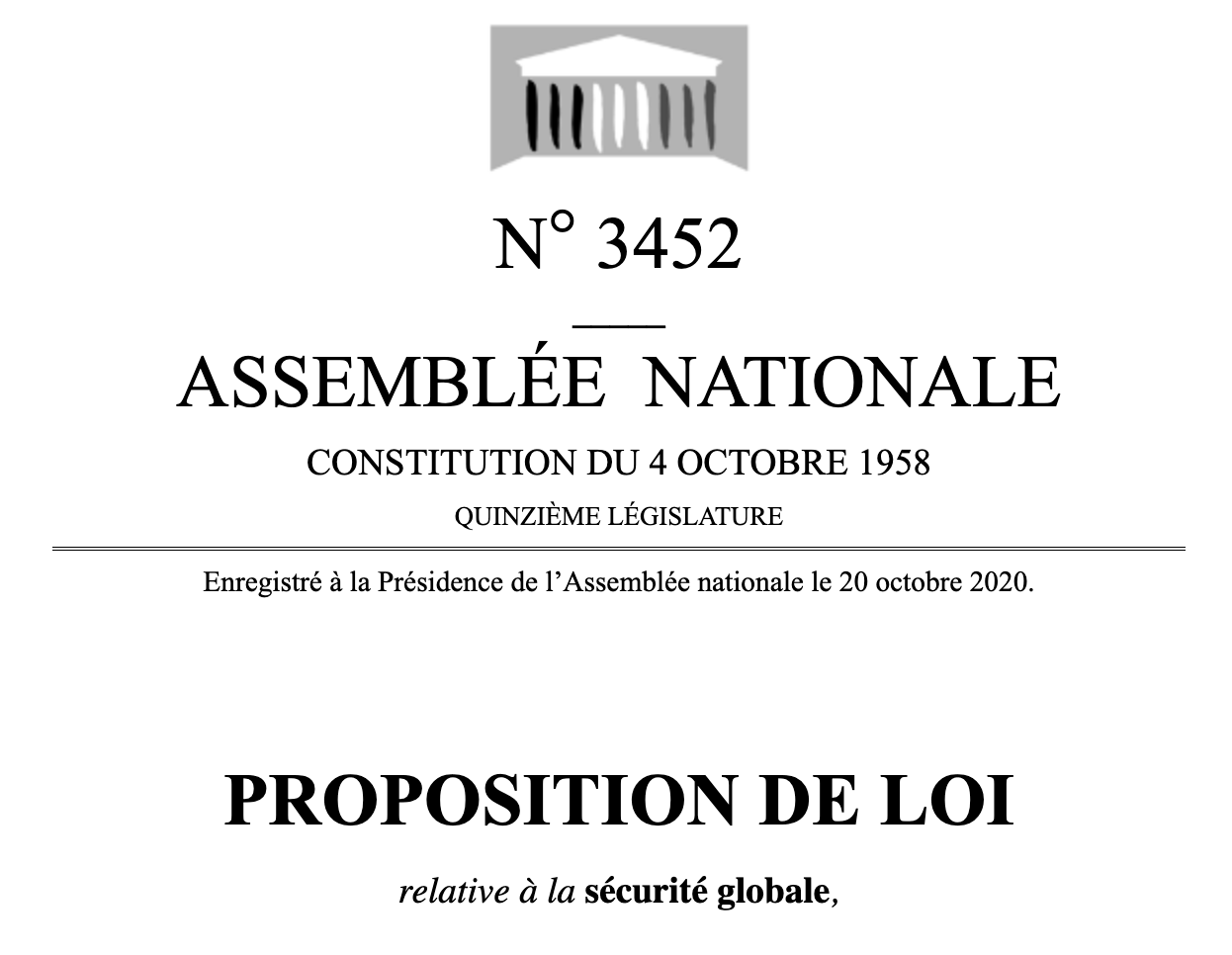 N° 3452 _____ ASSEMBLÉE NATIONALE