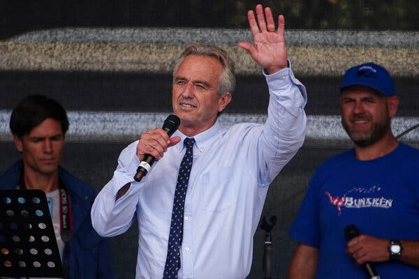 YouTube said it was banning the accounts of several prominent anti-vaccine activists from its platform, including Robert F. Kennedy Jr.'s.